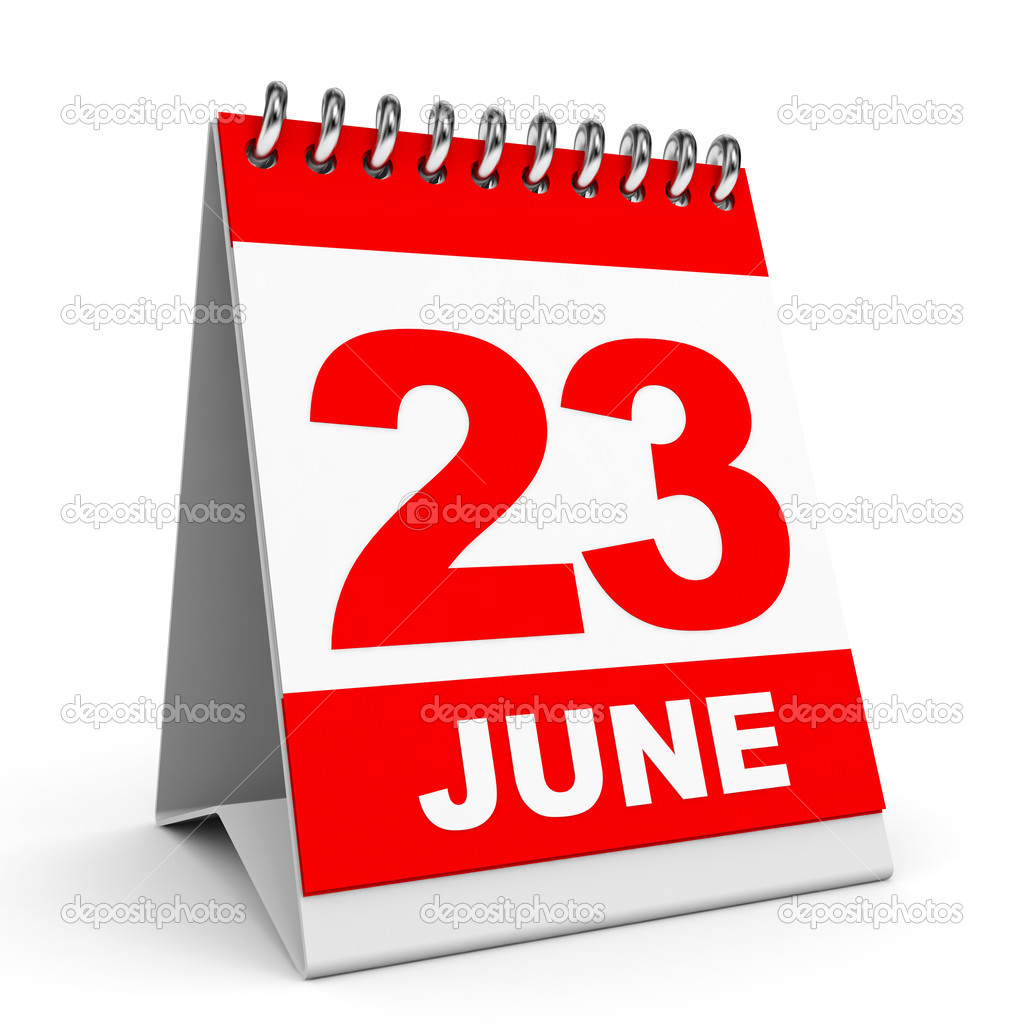 Calendar 23 June Stock Photo 44691815