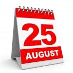 Calendar. 25 August. — Stock Photo #49040553