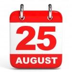 Calendar. 25 August. — Stock Photo #49040851