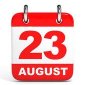 Calendar. 23 August. — Zdjęcie stockowe