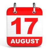 Calendar. 17 August. — Zdjęcie stockowe