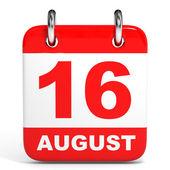 Calendar. 16 August. — Zdjęcie stockowe