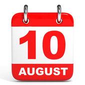 Calendar. 10 August. — Zdjęcie stockowe