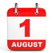 Calendar. 1 August. — Zdjęcie stockowe