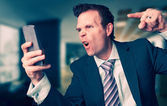 Angry Business Man — Stock Photo