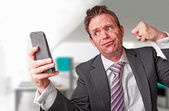 A frustrated businessman. — Stock Photo