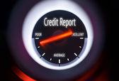 Poor Credit Report Concept — Stock Photo