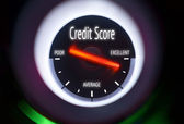 Excellent Credit Score Concept — 图库照片