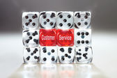 Wall of Dice — Stock Photo