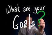 ¿cuáles son sus metas — Foto de Stock