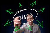 Sdílení koncept — Stock fotografie