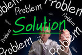 Problem and Solution — Stock Photo