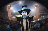 Football Supporters — Stock Photo