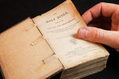 An Old Holy Bible, Old and New Testaments. — Stock Photo