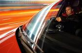 Man driving car — Stock Photo