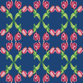 Floral pattern with tulips — Stockfoto