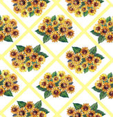 Bouquet daisy yellow on a white background — Stock Photo