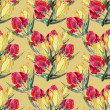 Seamless pattern with watercolor tulips — Stock Photo #49925251