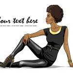 African American girl — Stock Vector #43294851