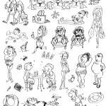 Summer beach doodles — Stock Vector #43294937