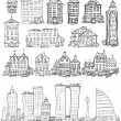 City doodles set — Stock Vector #43296641