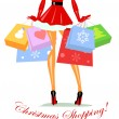 Christmas shopping — Stock Vector #43296845