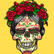 Skull with roses, Day of the Dead — Stock Vector #43297055