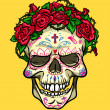 Skull with roses, Day of the Dead — Stock Vector #43297063
