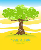 Tree and space for text — Vettoriale Stock