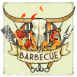 BBQ Grill logo design — Stock Vector #43415513