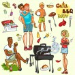 BBQ party — Stock Vector #43415525