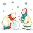 Polar bears, Christmas — Stock Vector #43415923