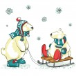 Polar bears, Christmas — Stockvektor  #43415941