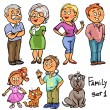 Family members — Stock Vector