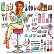 Постер, плакат: Woman in Beauty Salon