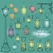 Lanterns collection — Stock Vector