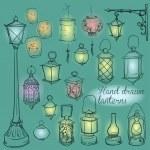 Lanterns collection — Stock Vector #43417811