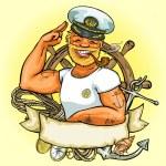 Sailor logo — Stock Vector #43417833