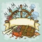 Pirate logo design — Stock Vector #43418795