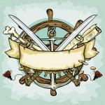 Pirate logo design — Stock Vector #43418851