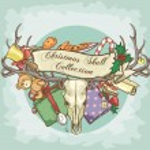 Reindeer skull logo — Stock Vector #43419455