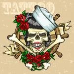 Skull Tattoo — Stock Vector #43419699