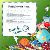 Back to School background with sample text. — Stockvector