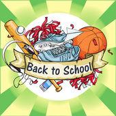 Back to School icon — Stock Vector