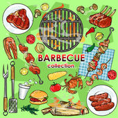 Barbecue collection — Stock Vector