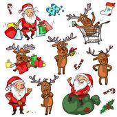 Christmas characters — Stock vektor