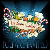 Christmas or new Year party invitation — Stockvektor