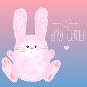 Carta di felice pasqua con coniglietto — Vettoriale Stock
