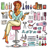 Woman in Beauty Salon — Stock Vector