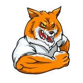 Red Fox mascot, team logo — Stock Vector